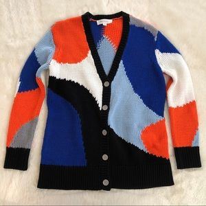 Two by Vince camuto v neck color block cardigan XS
